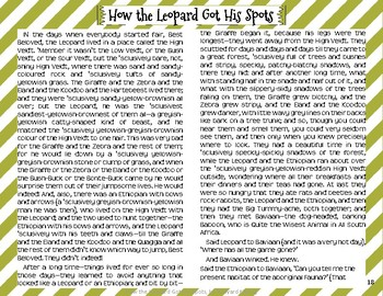 """""""How the Leopard Got His Spots"""" Just So Stories with Depth and Complexity"""