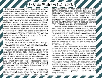 """How the Whale Got His Throat"" Just So Stories with Depth and Complexity"