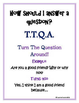 """How to Answer a Question"" Poster"