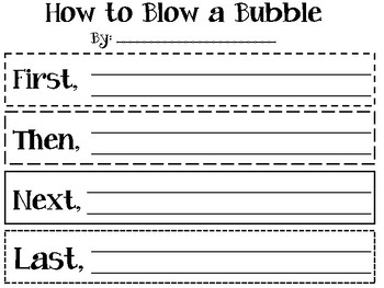 """""""How to Blow a Bubble"""" Graphic Organizer"""