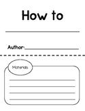 """""""How to"""" Book Template"""