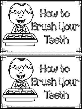 """""""How to Brush Your Teeth"""" Emergent Reader, Sequencing, Nouns, and Verbs"""