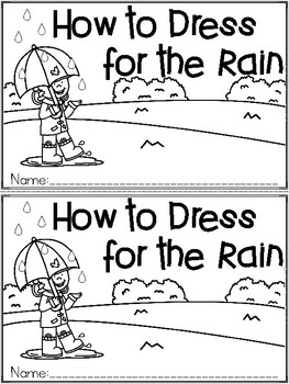 """How to Dress for the Rain"" An April/Spring Emergent Reader and Response Set"