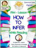 """""""How to Infer"""" Mini-Lesson for 2nd or 3rd Grade  Worksheets for Centers Included"""
