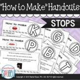 """""""How to Make"""" Articulation Handouts - Stops"""