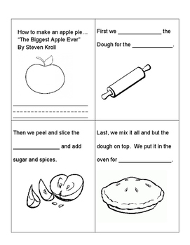 """""""How to Make an Apple Pie"""" with """"The Biggest Apple Ever"""" by Steven Kroll"""