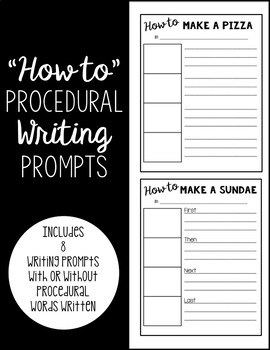 """""""How to"""" Procedural Writing Prompts"""