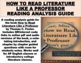 """""""How to Read Literature Like a Professor"""" Reading Analysis"""