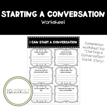 """How to Start a Conversation"" Worksheet"