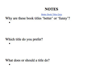 """""""How to Write Essay Titles"""" Lesson and Activity"""