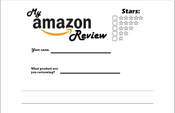 """""""How to Write an Amazon Review"""" Unit, two writing and two reading assignments"""