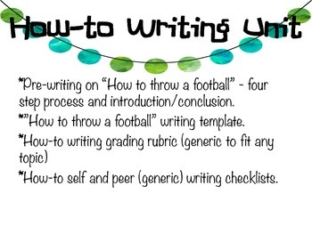 """""""How to ..."""" Writing Pack"""