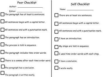 """""""How to"""" Writing Rubric and Checklists"""