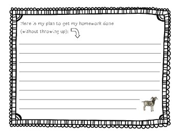 """""""How to do Homework Without Throwing Up"""" activity sample"""