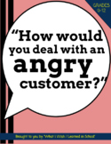 """How would you deal with an angry customer?"" Job Interview Question Guide"