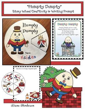 """Humpty Dumpty""  Nursery Rhyme Story Wheel Craftivity & Writing Prompt"