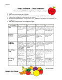 """""""Hungry for Change"""" Questions and Poster Assignment (with Rubric)"""