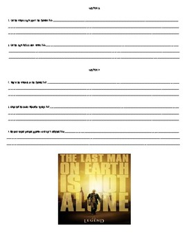 """I Am Legend"" by Richard Matheson Worksheets, Art Projects, & Assessment Unit"