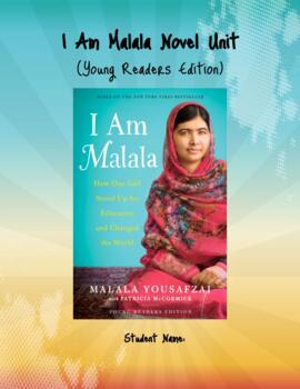"""I Am Malala- Young Readers Edition"" Literature Circle Novel Unit"