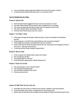 """""""I Am Malala"""" Young Readers Edition Chapter Questions"""
