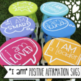 """I Am"" Postive Affirmations SVG Cutting Clipart for Cricuts or Silhouette Cameo"