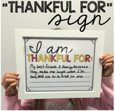 """I Am Thankful For"" Sign"