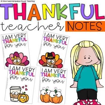 """I Am Thankful"" Teacher's Note Home"