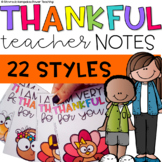 """I Am Thankful"" Teacher's Note Home"
