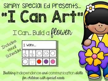 """""""I CAN"""" Art- Build-a-Spring Flower"""