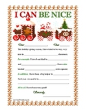 """I CAN BE NICE"" Christmas Letter Writing Activity w/ Transition Words! Primary"