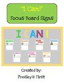"""I CAN!"" Focus Board **Fully EDITABLE**"