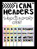 Subject Headers - All Colors