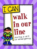 """I CAN"" Lockdown Safety Procedures Posters ~  Intruder Drill"