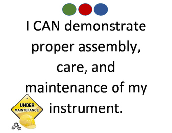 """I CAN"" Signs for your band room"