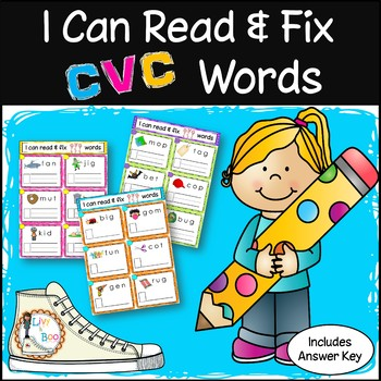 FREE Taster - 'I Can' CVC Series - Phonics Word Cards