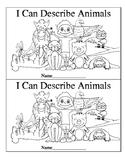 """I Can Describe Animals"" Emergent Reader"