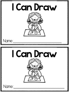 """I Can Draw"" (A Back to School Emergent Reader Dollar Deal)"