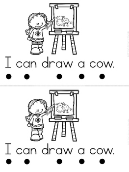 """""""I Can Draw"""" (A Back to School Emergent Reader Dollar Deal)"""