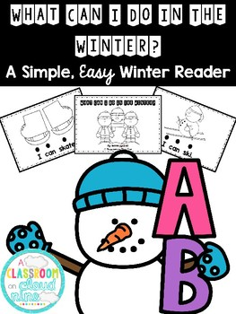 {I Can} Easy and Simple Winter Reader *FREEBIE*