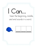 """I Can Hear Beginning, Middle, and End Sounds in a Word"" Activity"