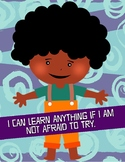 """""""I Can Learn Anything"""" African Centered Growth Affirmation Poster"""