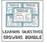 """I Can"" Learning Objectives Bundle - Grade 5 GoMath Aligne"