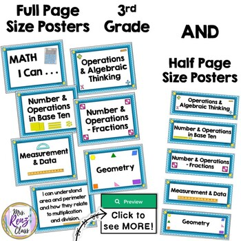 """""""I Can Statements"""" for Math {4th Grade Math CCSS}"""