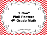 """""""I Can"""" Math Posters"""