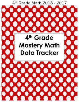 """""""I Can"""" Math Student Data Trackers"""