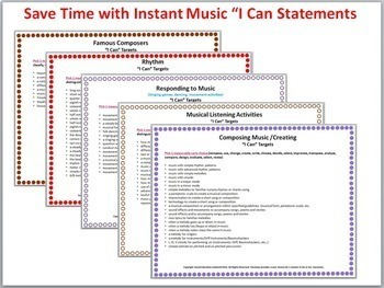 """""""I Can"""" Music Statements Bundled"""