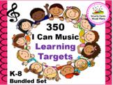 """Bundled """"I Can"""" Music Targets"""