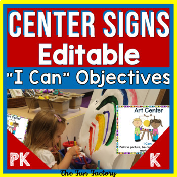 """""""I Can"""" Statements - Objective Center Signs 