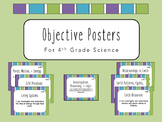 """I Can"" Objective Posters - 4th Grade Science {Virginia SOL}"