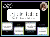 """I Can"" Objective Posters - 5th Grade Bundle - 4 Core Subjects {Virginia SOL}"